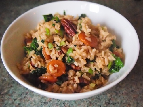 Pecan fried rice