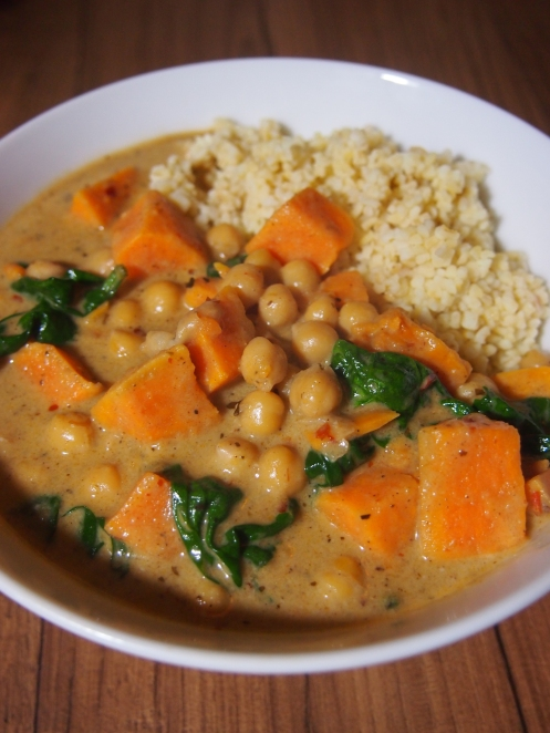 Caribbean chickpea curry, vertical