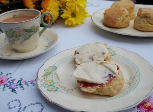 Cream tea with buttercream