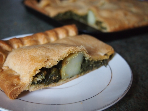 Saag aloo pie main