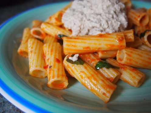 Baba ghanoush pasta side pic